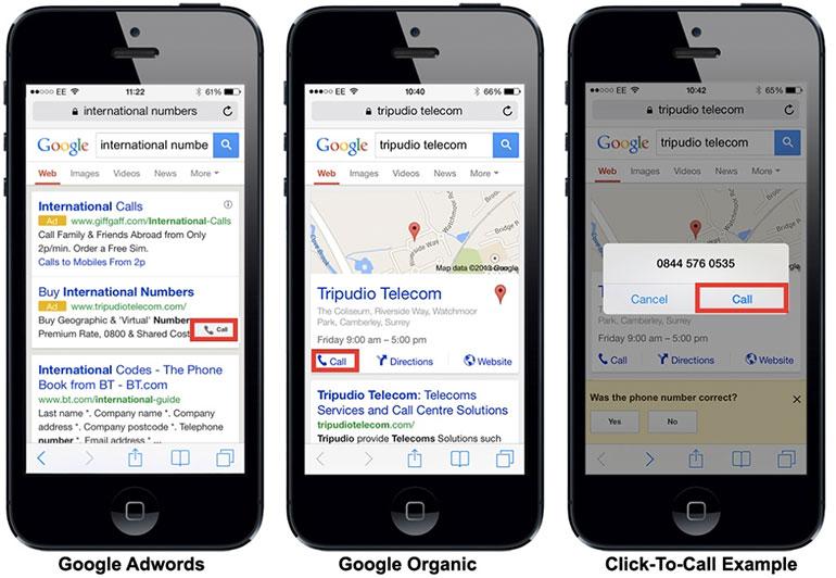 google click to call