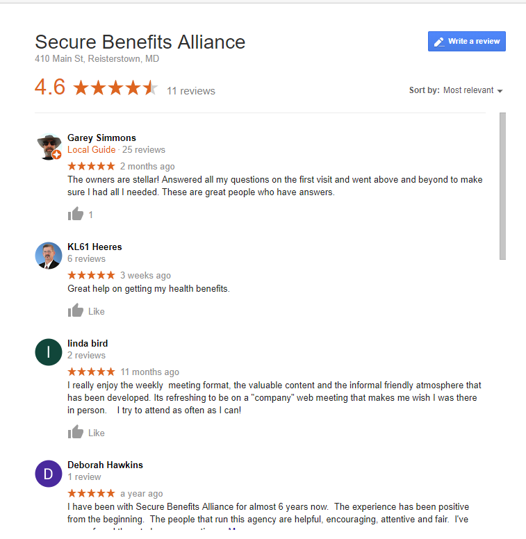 Leave Reviews for the business