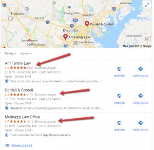 Google 3 pack